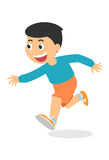 Cartoon boy running, vector Stock Photos