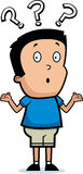 Cartoon Boy Shrugging Royalty Free Stock Image