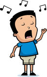 Cartoon Boy Singing Royalty Free Stock Photo