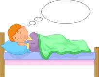Cartoon boy sleeping Stock Photography