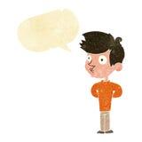 Cartoon boy staring with speech bubble Stock Photography