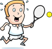 Cartoon Boy Tennis Royalty Free Stock Photo