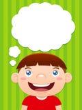 Cartoon boy thinking Stock Photo