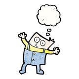 cartoon boy thinking Stock Images