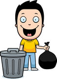 Cartoon Boy Trash Royalty Free Stock Photo