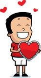 Cartoon Boy Valentine Royalty Free Stock Photos