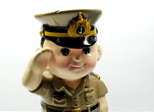 Cartoon boy. This is a cartoon version of a cartoon baby soldiers cute. In a lovely and bright perspective Stock Photos