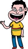 Cartoon Boy waving hand Royalty Free Stock Image