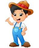 Cartoon boy waving hand. Illustration of waving Cartoon boy hand Royalty Free Stock Images