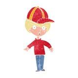Cartoon boy wearing cap Stock Images