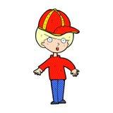 Cartoon boy wearing cap Royalty Free Stock Photo