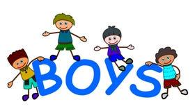 Cartoon boys Stock Photo
