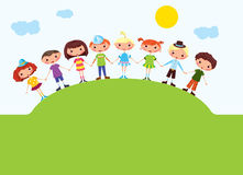 Cartoon boys and girls Royalty Free Stock Image