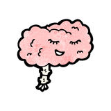 Cartoon brain Royalty Free Stock Photography