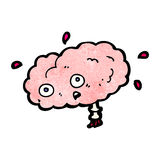 Cartoon brain Royalty Free Stock Images