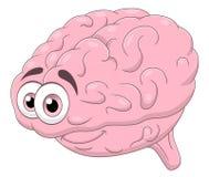 Cartoon brain. Cartoon cute brain isolated on white background stock illustration