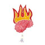 cartoon brain on fire Stock Photos