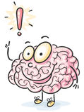 Cartoon brain having an idea Stock Photos