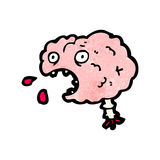 Cartoon brain Royalty Free Stock Photo