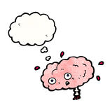 Cartoon brain with thought bubble Stock Photo