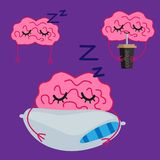 Cartoon brain vector set royalty free stock photos