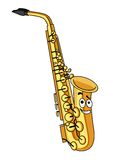 Cartoon brass saxophone Stock Images
