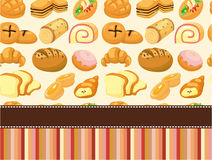 Cartoon bread card. Vector drawing Royalty Free Stock Photography