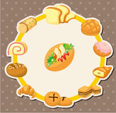 Cartoon bread card Royalty Free Stock Image