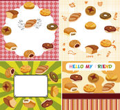 Cartoon bread card Royalty Free Stock Photo