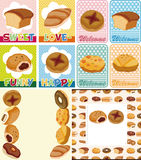 Cartoon bread card Royalty Free Stock Images