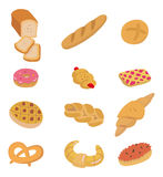 Cartoon bread icon. Drawing royalty free illustration