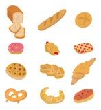 Cartoon bread icon. Drawing Royalty Free Stock Image