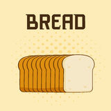 Cartoon Bread Loaf Poster Design With Text Stock Photos