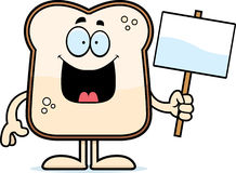 Cartoon Bread Sign Royalty Free Stock Images
