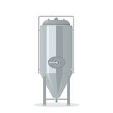 Cartoon brewery tank. Isolated on white background Stock Photography