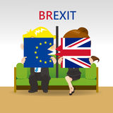 Cartoon Brexit concept Royalty Free Stock Photos