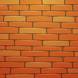 Cartoon Brick Wall Stock Photography