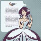 Cartoon bride Royalty Free Stock Photos