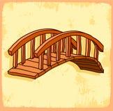 Cartoon bridge illustration, vector icon. Royalty Free Stock Photography