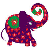 Cartoon bright decorative elephant for design,vect Royalty Free Stock Photography
