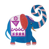 Cartoon bright  elephant, vector  illustration, pa Royalty Free Stock Image