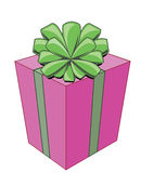 Cartoon. Bright gift box with bow for celebration Royalty Free Stock Photography
