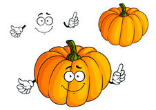Cartoon bright orange pumpkin vegetable Royalty Free Stock Photos