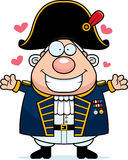Cartoon British Admiral Hug Stock Images