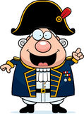 Cartoon British Admiral Idea Stock Image