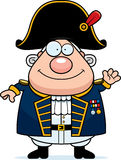 Cartoon British Admiral Waving Royalty Free Stock Photo