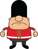 Cartoon British Guard Grumpy royalty free stock photography