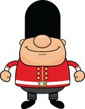 Cartoon British Guard Happy Stock Photo