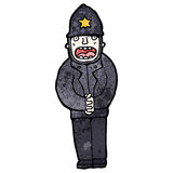Cartoon british policeman Stock Photos