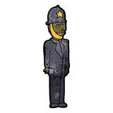 Cartoon british policeman Royalty Free Stock Photo
